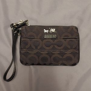 Coach Small Black Wristlet